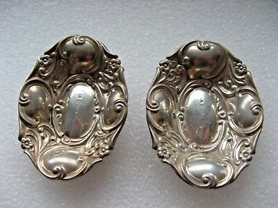 Two Victorian Silver Pin Trays 1894.