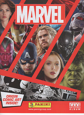 Panini Marvel Heroes 2017 Complete Set 198 Trading Cards + Rare 5 Ltd & Binder.