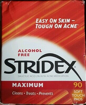 Stridex Maximum Strength Medicated Pads 90 Count for acne No box New