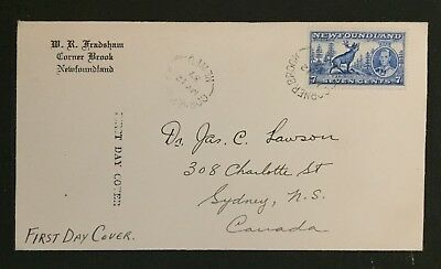 Newfoundland Stamp Used First Day Cover