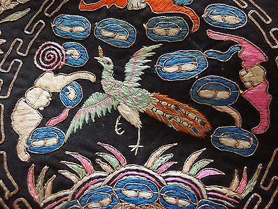Vintage Chinese silk hand embroidery rank badge