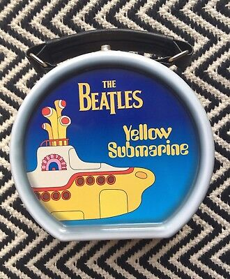 The Beatles Yellow Submarine rare Metal ' lunchbox' with handle, drum shaped
