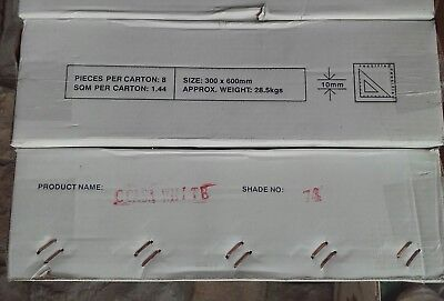 10 x Carton of 8 G-Casa Shade #74 White Gloss Tiles 300 x 600 PICK UP ONLY