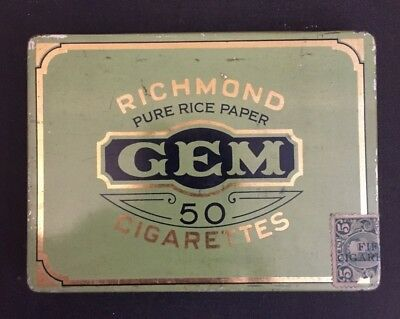 Newfoundland Stamp Used Excise on Cigarette Tin from Imperial Tobacco  $312