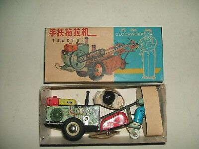 Toy Tinplate Red China Tractor Ms 875 Giocattolo D'epoca In Latta