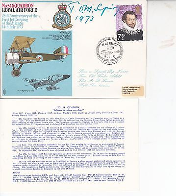 Fdc  Raf Cover Signed Tom Sopwith 1973.