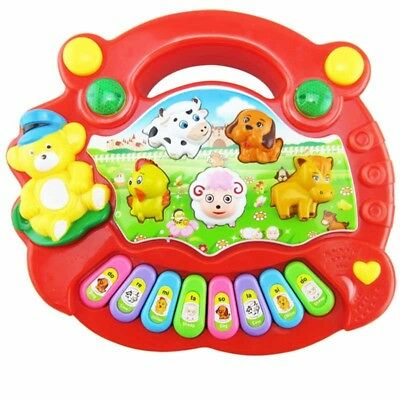 Baby Kids Smart Animal Farm Mobile Electric Piano Smart Music Toy English Early
