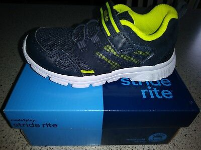 New! Stride rite Made 2 play Shoes/Taylor Navy! Boys Size 10T!