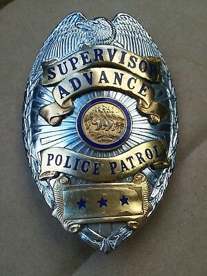 "Retired Vintage Police Badge ""Heavy"" Look At Pics"