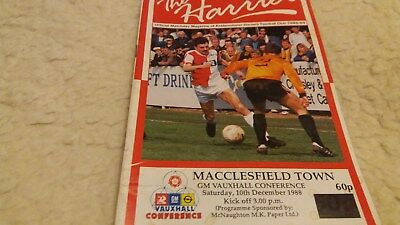Kidderminster Harriers v  Macclesfield Town 1988/89