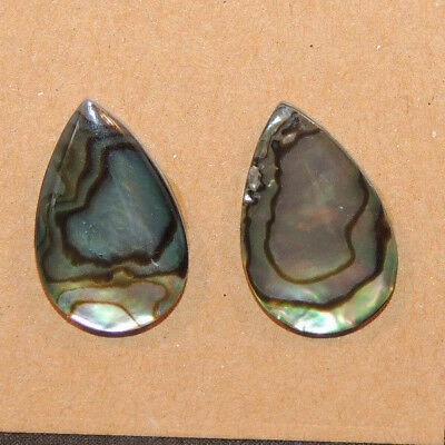 Abalone Cabochon 13x21mm with 3mm dome Set of 2 (13332)