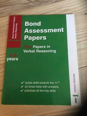Bond Assessment Papers first papers in verbal reasoning age 7-8 years