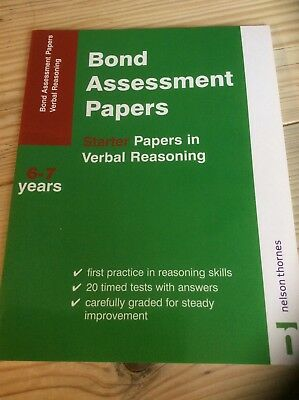Bond Assessment papers starter papers in verbal reasoning age 6-7 years