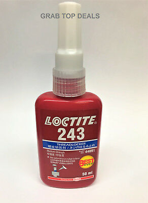 Loctite 243 Thread Lock 50ml Blue Bolt Stud Fast Fix Screw Glue Nut Compound