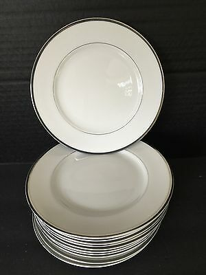 """12 Harmony House China SILVER MELODY Bread & Butter Plates 6.5"""""""