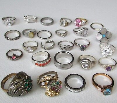 Lot of 9.25 Silver -Vintage and Fashion - RING Vary Style Size Age