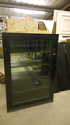 Ebonised Antique shallow Shop Display Cabinet - Wall Mountable(?)