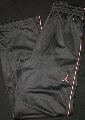 NIKE AIR JORDAN Boys Black Drawstring Athletic Pants Jumpman Size M 10-12 Years