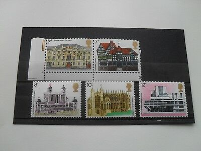 Gb Qe11 1975 Architectural Heritage Year  Mint Mnh Set British  Stamps