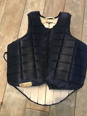 Racesafe RS2010 adults small with long back body protector blue