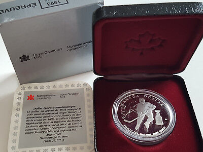 Kanada 1993 Proof 100 Jahre STANLEY CUP Silber
