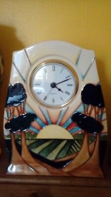 Moorcroft one-off design trial Daybreak clock