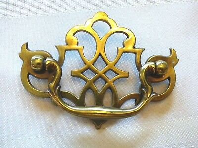 SET OF 4 Vintage Chippendale Style Bat Wing Drawer Pulls w/ Bail Keeler Brass Co