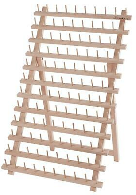 Milward Wooden Thread Rack 120 Spools - Organise All Your Threads - Beech Wood