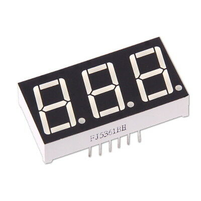 "3-stellige 0.56"" Anzeige Anode Rot 7-Segment Sieben Common LED Display Arduino"