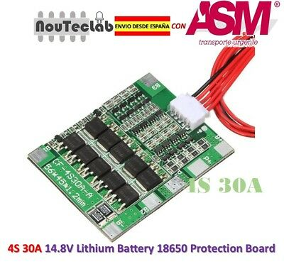 4S 30A Li-ion Lithium 14.8V Battery PCB BMS 18650 Charger Protection Board