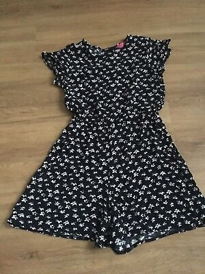 Girls Short Playsuit Aged 10-11 Years