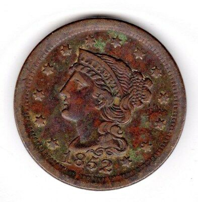 1852 Large Cent - Braided Hair - Really Nice Condition!