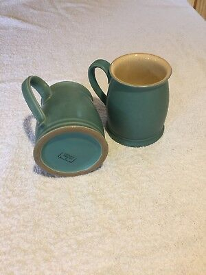 Denby Pottery Regency Green Mugs (2x)