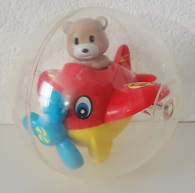 Vintage TOMY Bear in Airplane Spinning Ball Baby Crib Toy