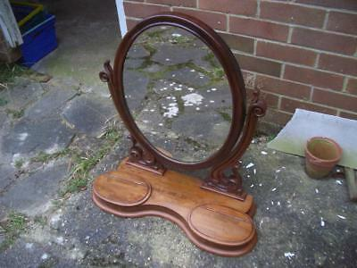 Victorian mahogany mirror for dressing table, antique