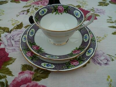 Pretty Vintage Shelley China Trio Tea Cup Saucer Gainsborough Sandon 11135