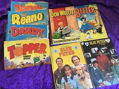 80's Annual Blue Peter / Beezer / Our Willie / Dandy Beano Topper Summer Special