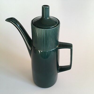 Retro Impact Coffee Pot set in Forest Green, Anchor Staffordshire Pottery