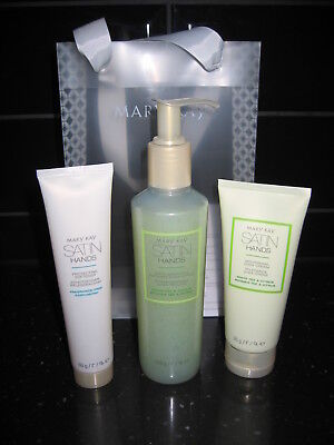 Original MARY KAY Satin Hands Handcreme Set mit White Tea & Citrus 3-tlg NEU+OVP