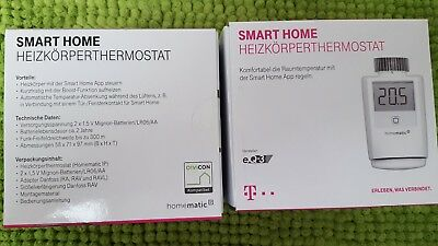 eq 3 max wandthermostat 2x heizk rperthermostat wei smart home eur 1 00. Black Bedroom Furniture Sets. Home Design Ideas