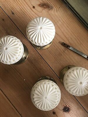Antique French Porceline Door Handles