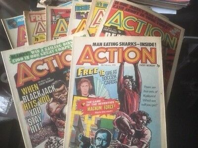 57 X Action Issues From 1976/77  A Nice Collection & Great Read & Cheap 2000Ad