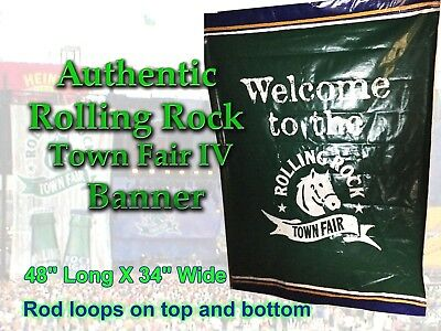 Large Authentic  Rolling Rock Town Fair IV Vinyl Banner