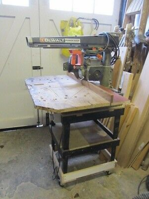 De Walt Radial Arm Saw Good Working Order.