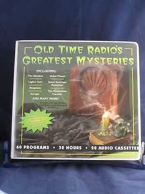 Old Time Radio's Greatest Mysteries 20 Audio Cassettes 30 Hours 60 Programs