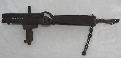 """Antique Hand Forged Large Animal Trap - 19.25"""" -  NR"""