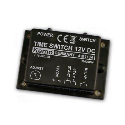 Time relay Time switch Timer 12V DC max 3A approx. 2 sec - 23Min, Kemo Timer