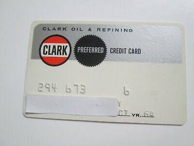 Vintage 1964 Clark Oil & Refining Credit Card - Gas Station in the Midwest