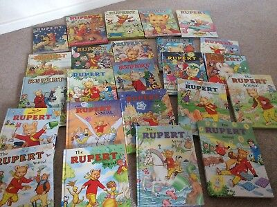Rupert Bear Annuals. Excellent condition. Every one from 1979- 2002.