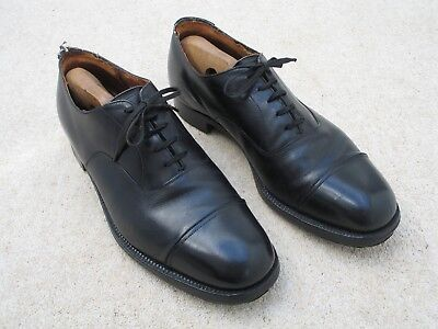 Vintage handmade mens Church's all leather shoes from C1940's with shoe trees